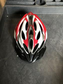 Adult Helmet Red/white With Black Schwinn bikes for cycling