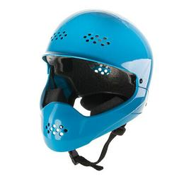blue face bike helmet safety