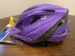"""Child Ages 5-8 BELL Bicycle Helmet Purple 29.5""""-22"""" Safe"""