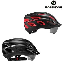 ROCKBROS Bike Helmet with Removable Goggles & Sun Visor Spor