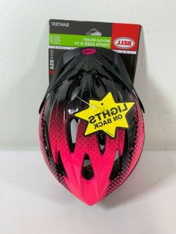 New Bell Banter Bicycle Helmet Youth Age 8-14 Pink W/Lights