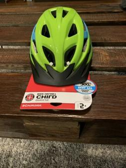 Schwann Green Kids Bicycle Helmet, Ages 5 to 8, Free Shippin